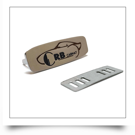 Custom Metal Tag with Logo for Automobile