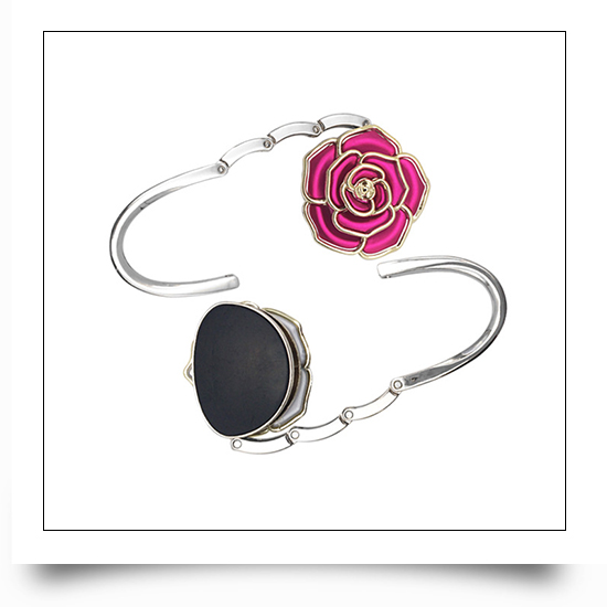 Red Rose Portable Purse Hook